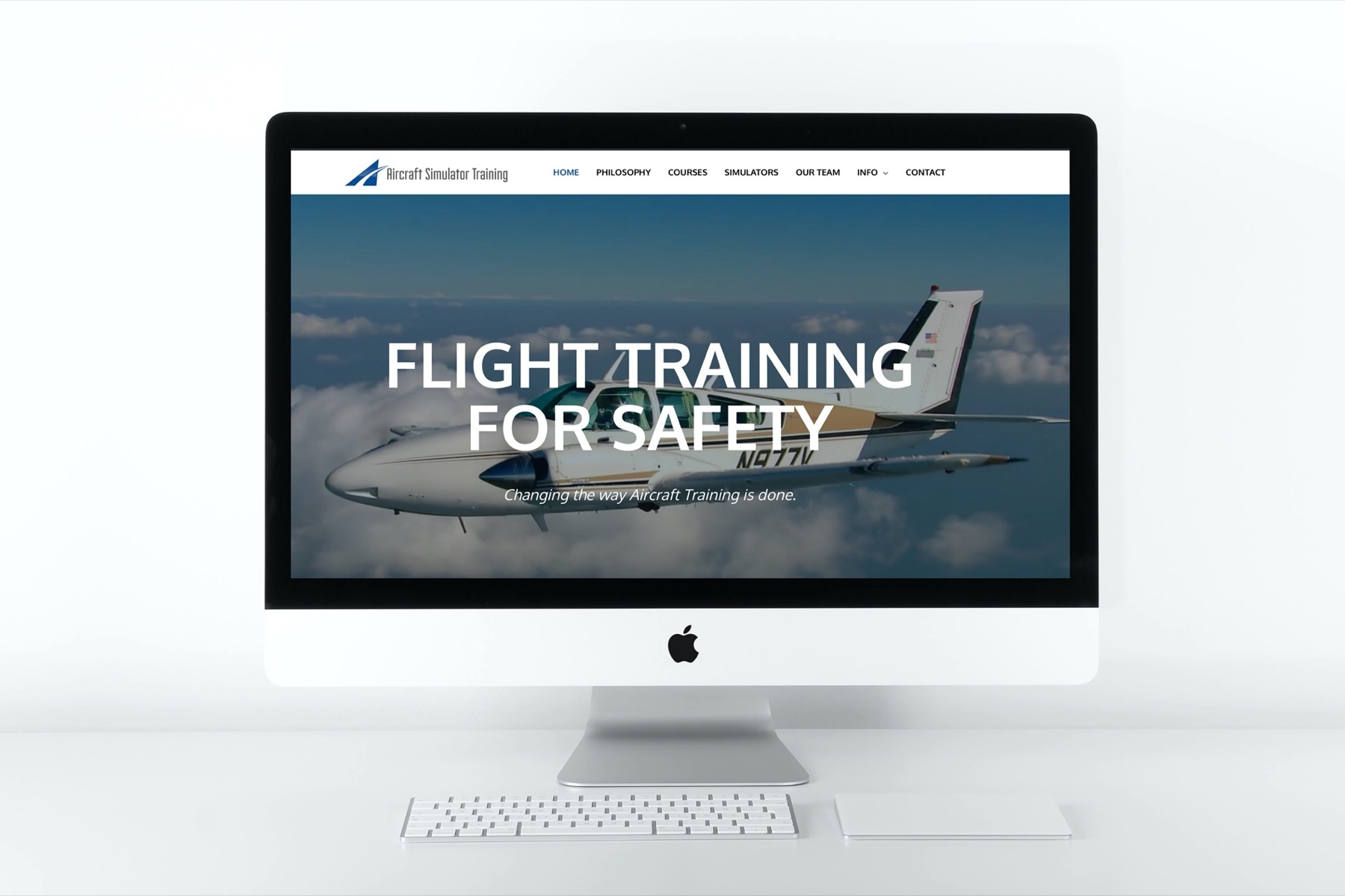 Aircraft Simulator Training Website Design - Desktop