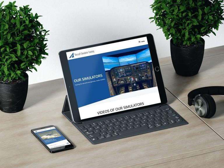 Aircraft Simulator Training Website Design - iPad