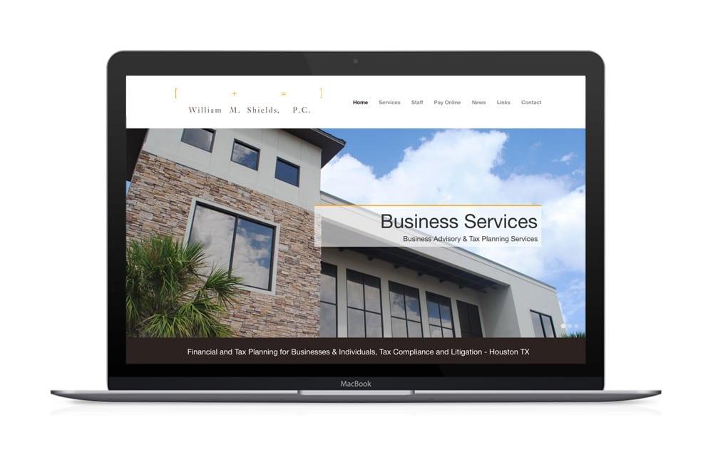 William Shields PC Houston Website Design
