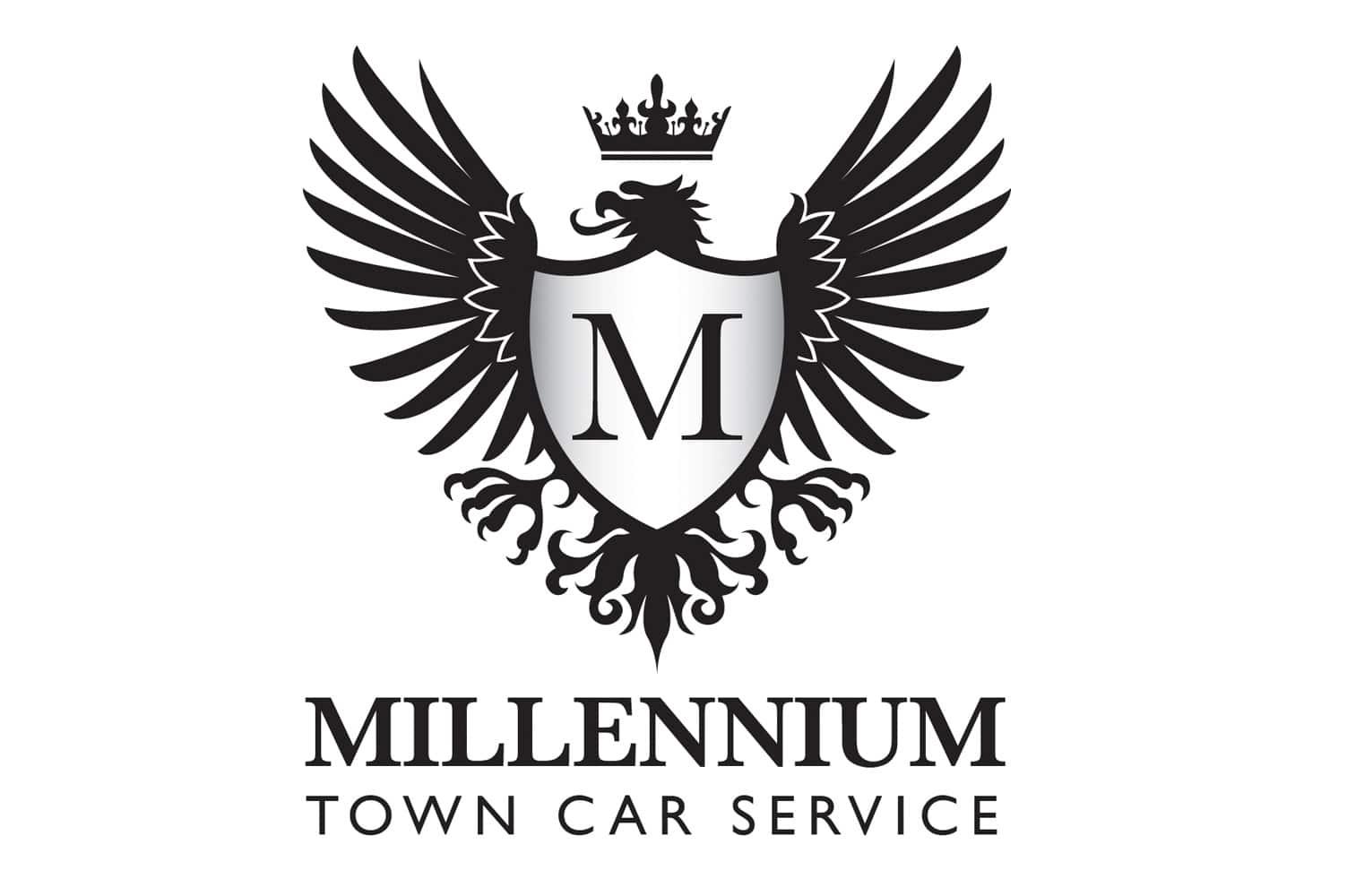 Millennium Town Car Service Logo Design Jellyflea Creative