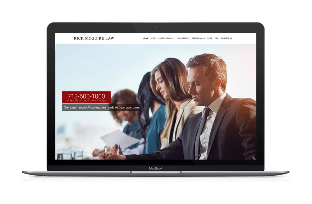 Rick McGuire Law Firm Website Design Houston