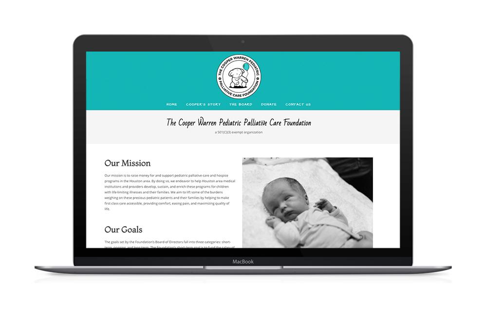 The Cooper Warren Pediatric Palliative Care Foundation Website Design