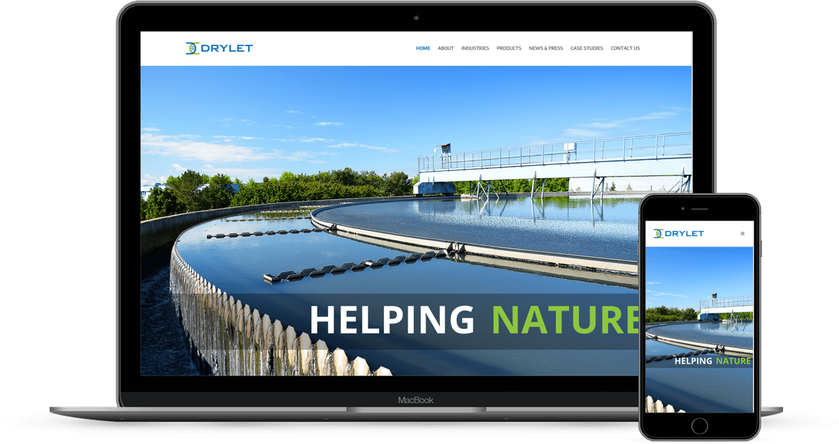 Drylet Responsive Website Design built on WordPress