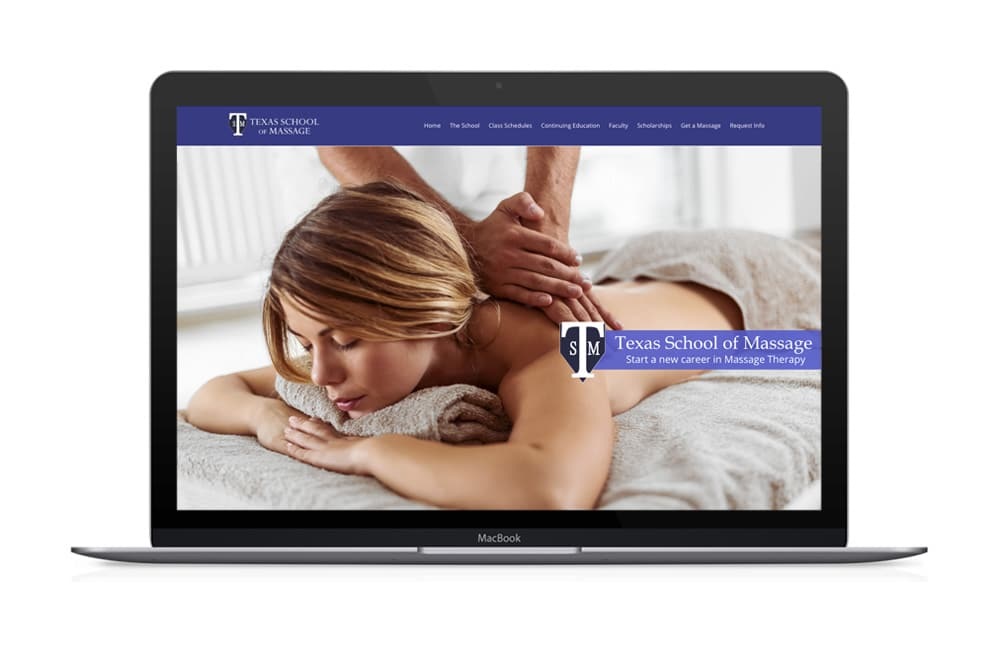 Texas School of Massage Website Design