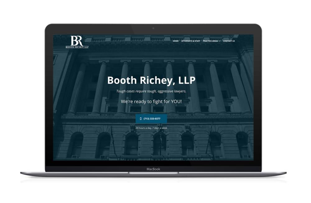 Booth Richey Law Firm Website Design, Houston Texa