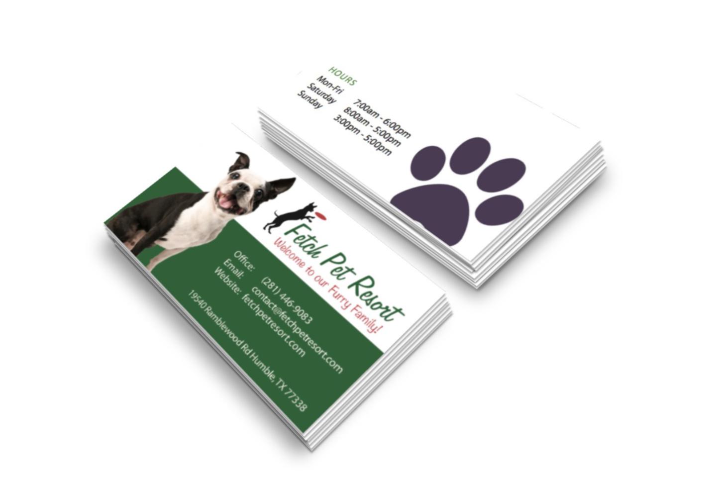 Fetch-Pet-Resort-Business-Cards - JellyFlea Creative