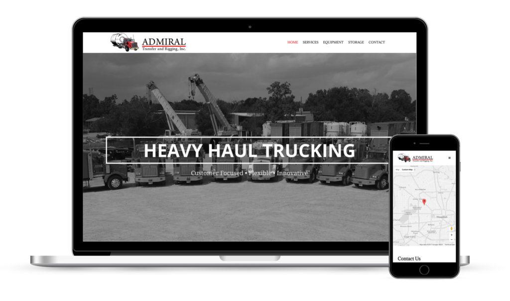 Admiral Transfer Houston Web Design