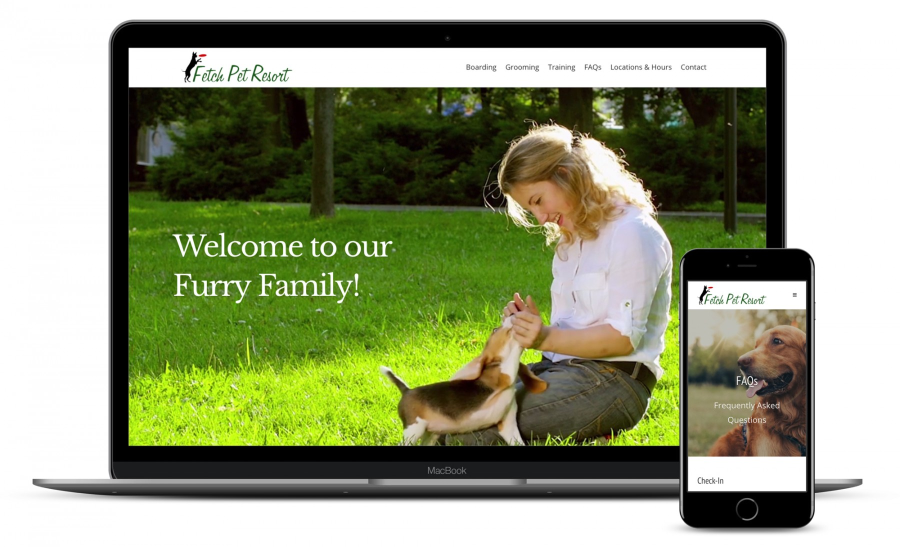 Fetch Pet Resort Website Design