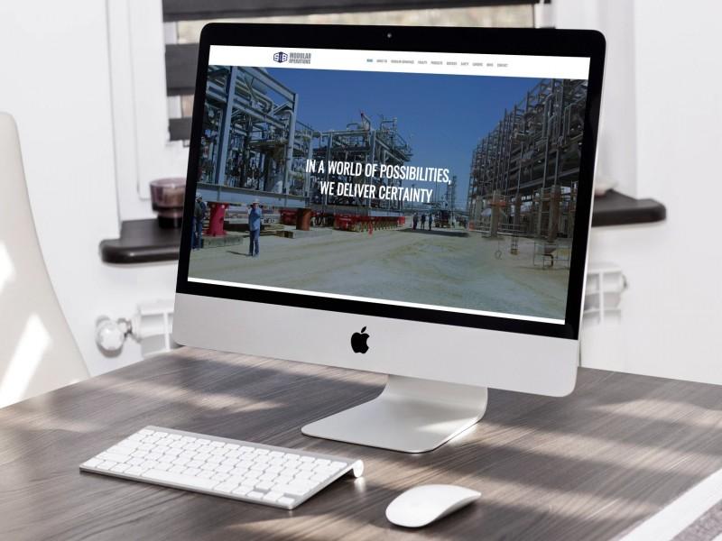S & B Modular Operations Website Design