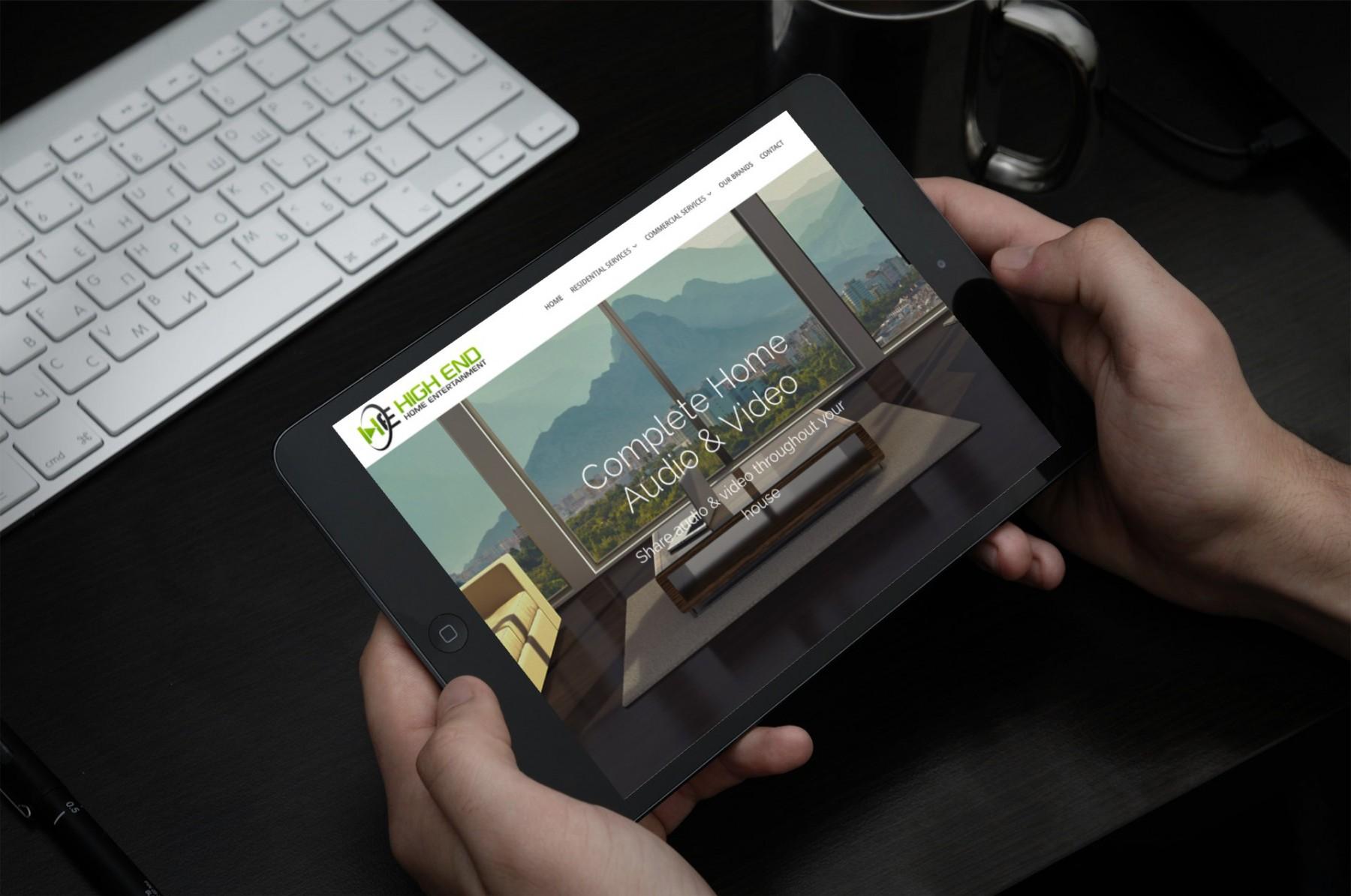 High End Home Entertainment WordPress Design