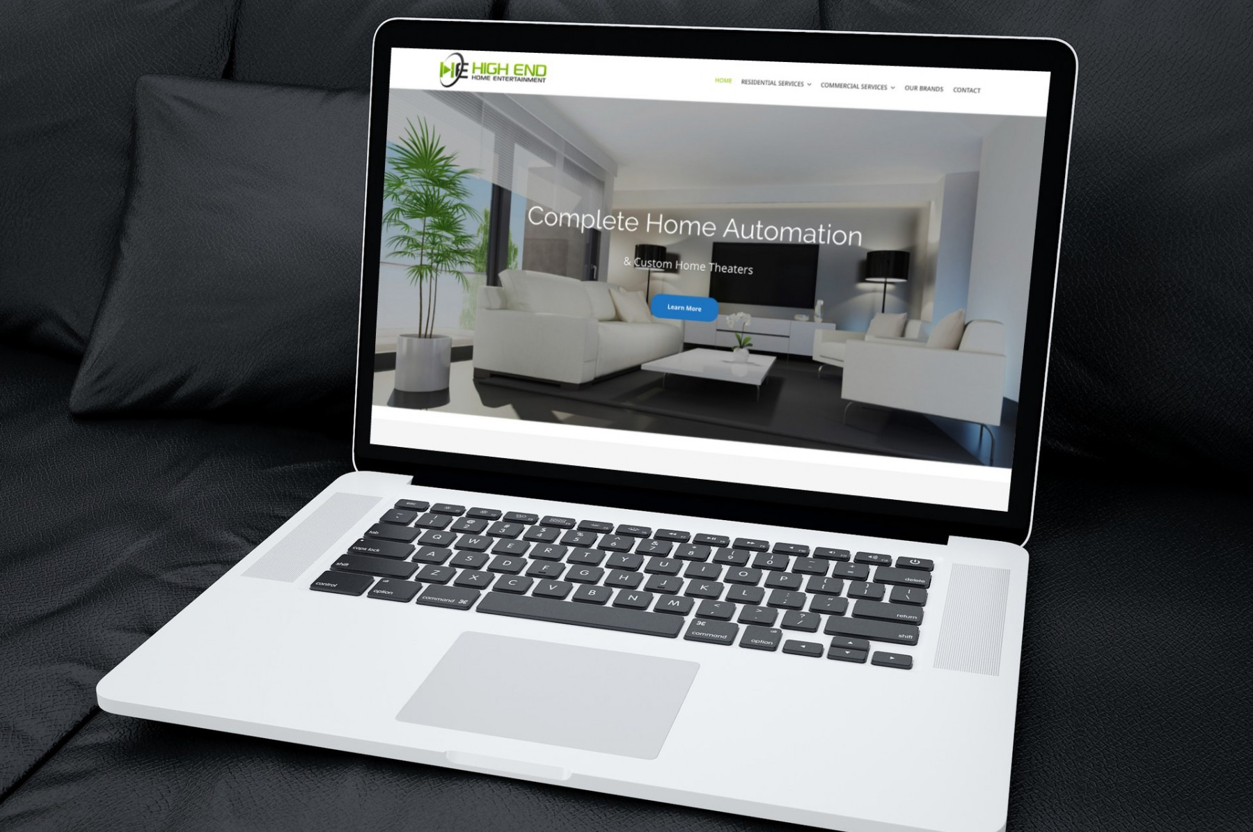 High End Home Entertainment WordPress Design