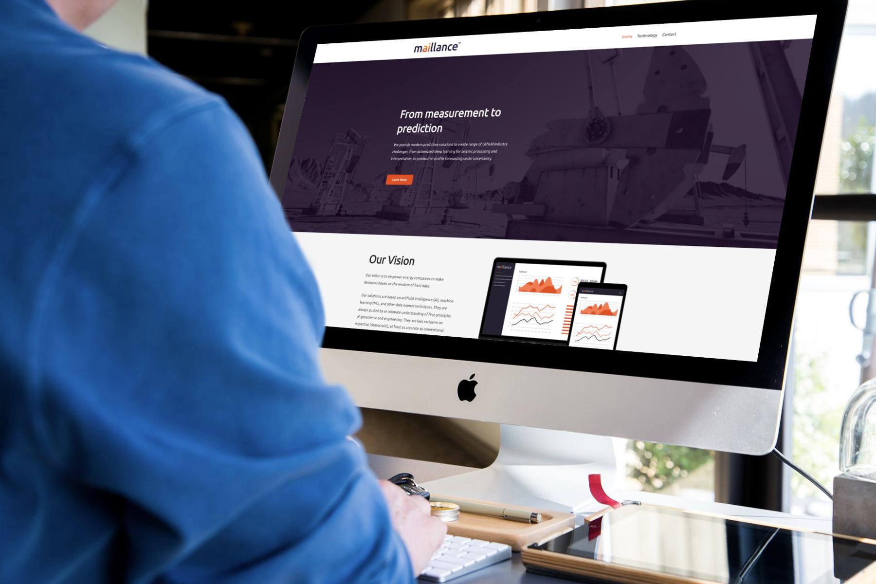 Maillance Website Design Desktop