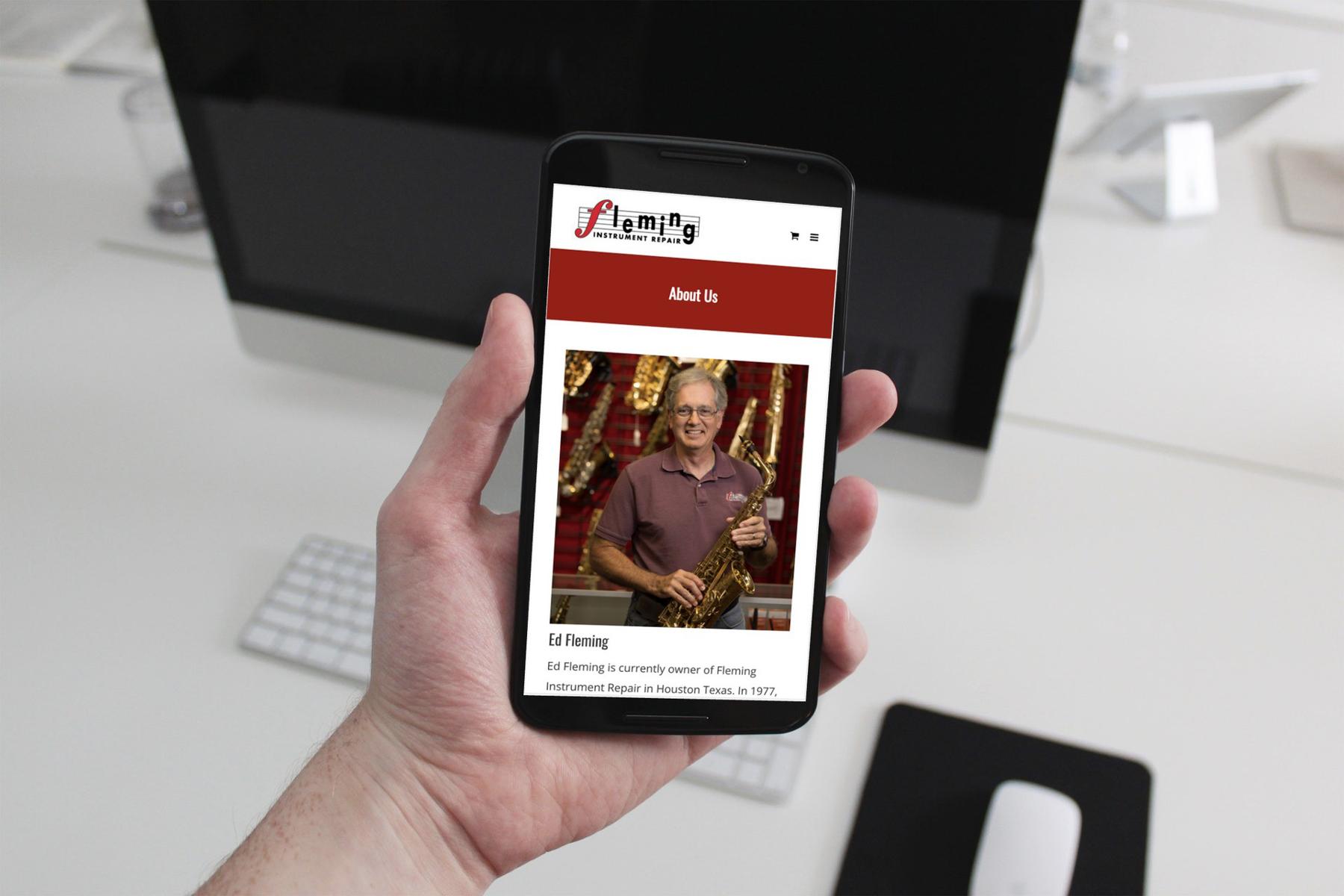 Fleming Instrument Repair Mobile Website Design