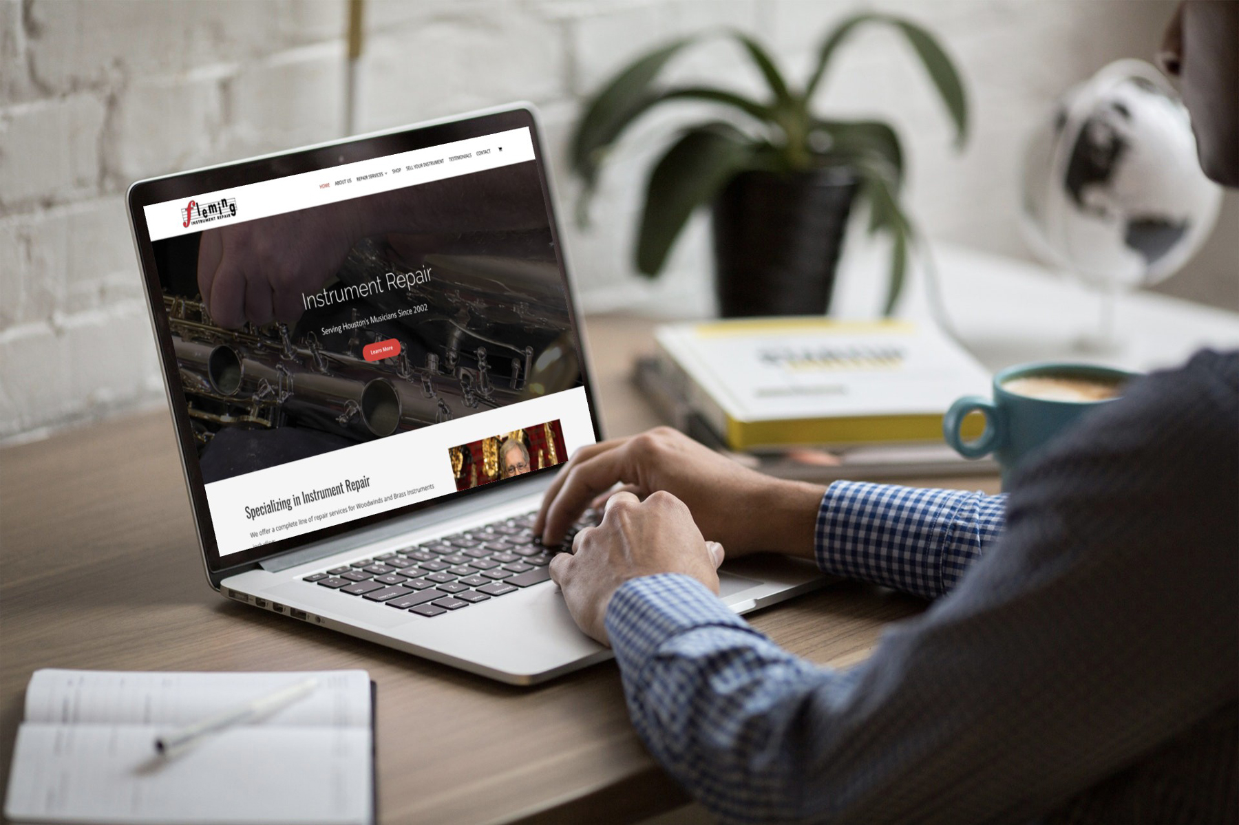 Fleming Instrument Repair Website Design