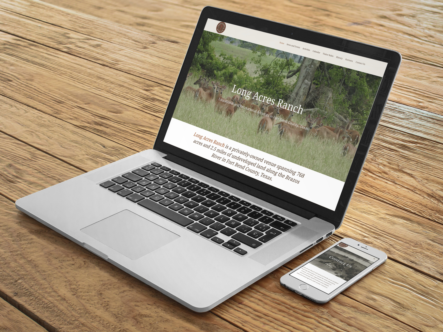 Long Acres Ranch Website Design