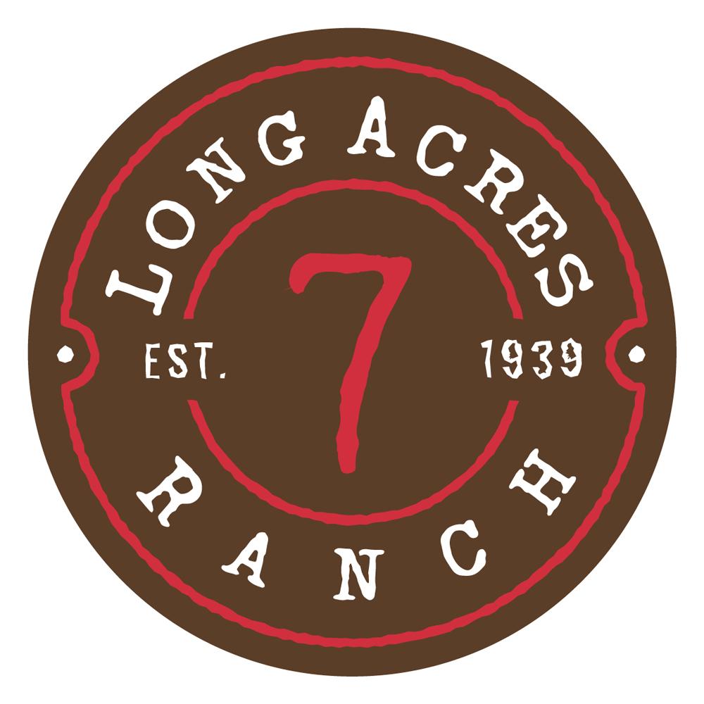 Long Acres Ranch Logo Design - Dark
