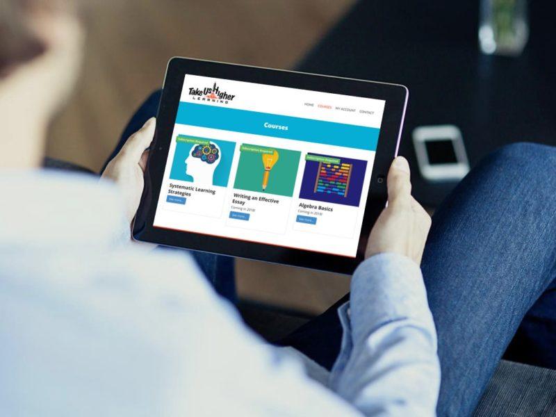 Take Us Higher Learning Website Design