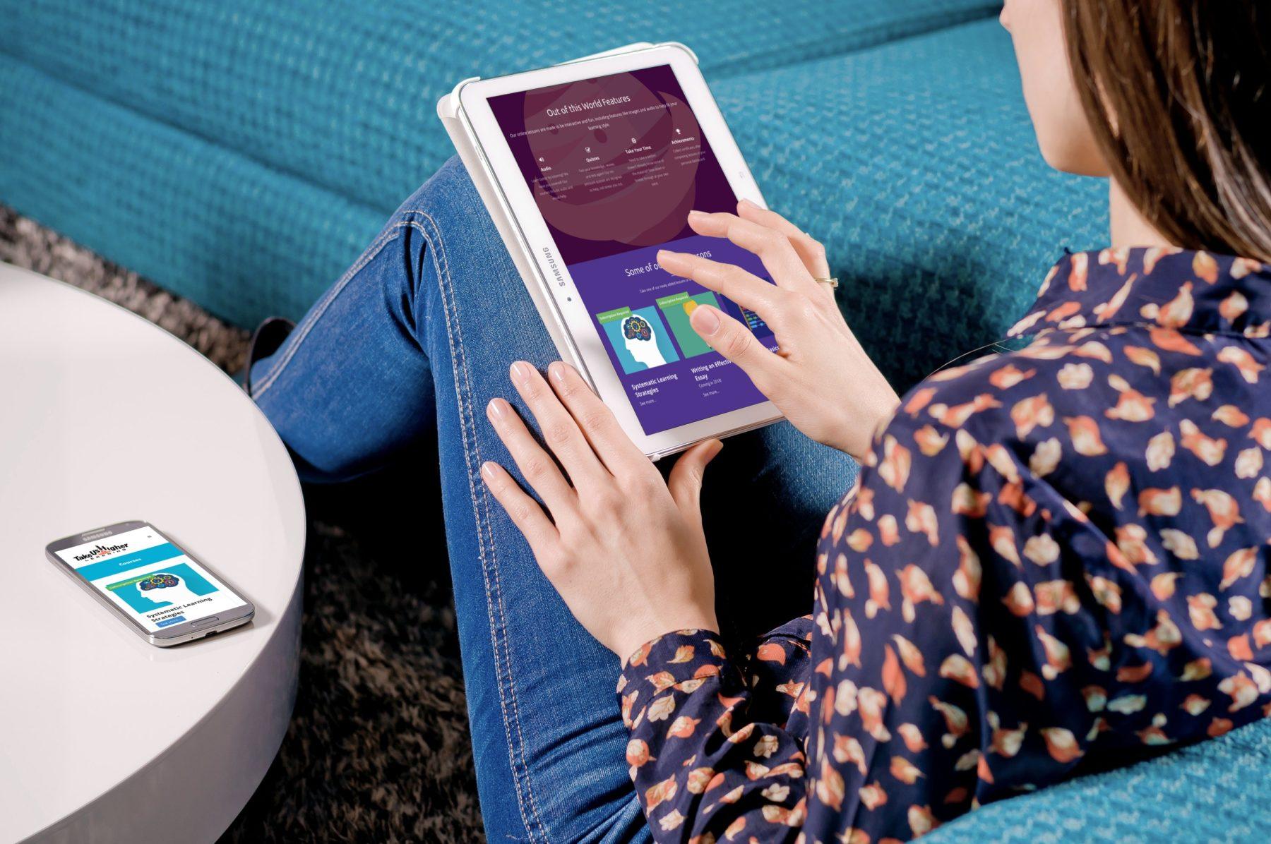 Take Us Higher Online Course Website Design