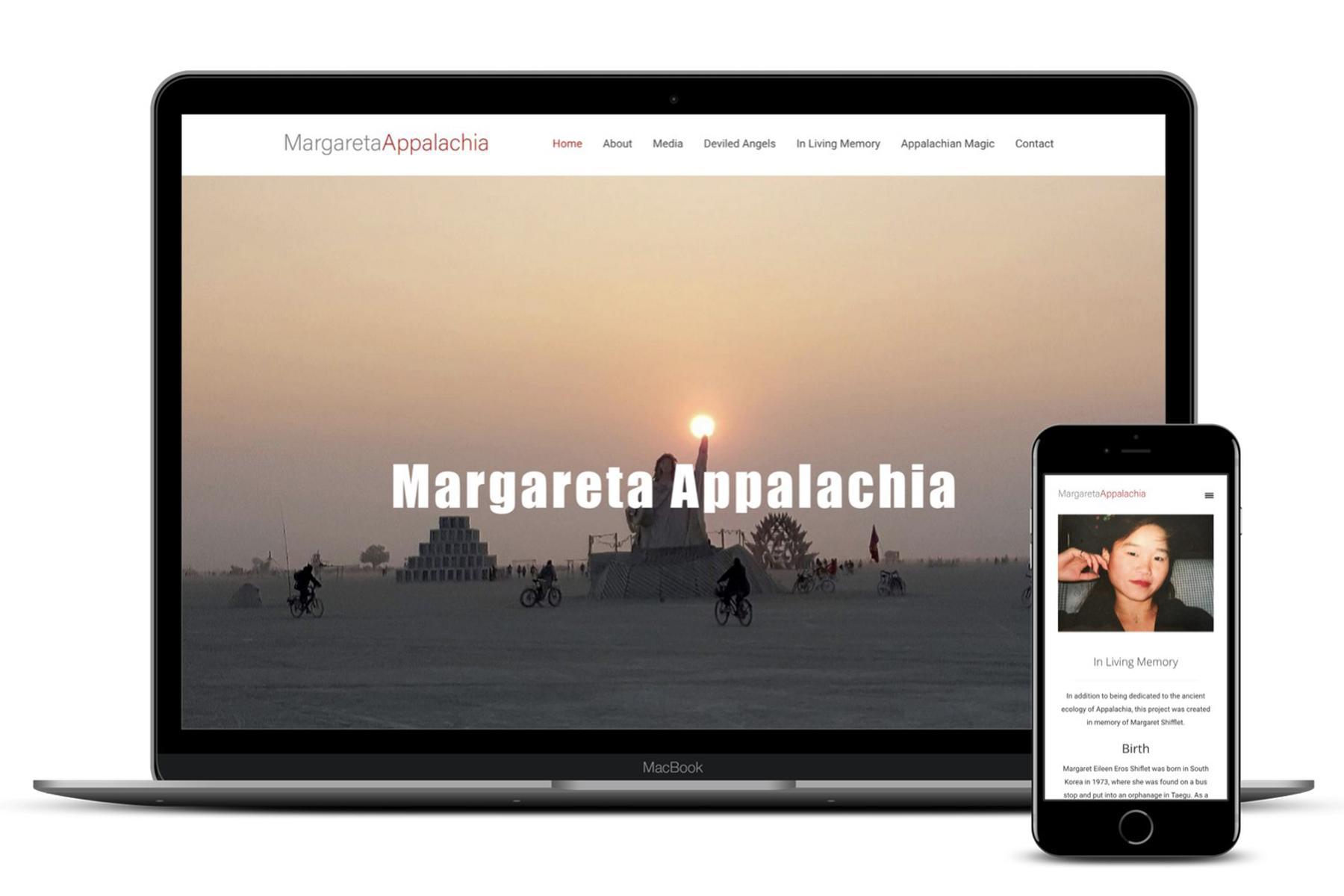 Website Design for Margaret Eileen Eros Shifflet