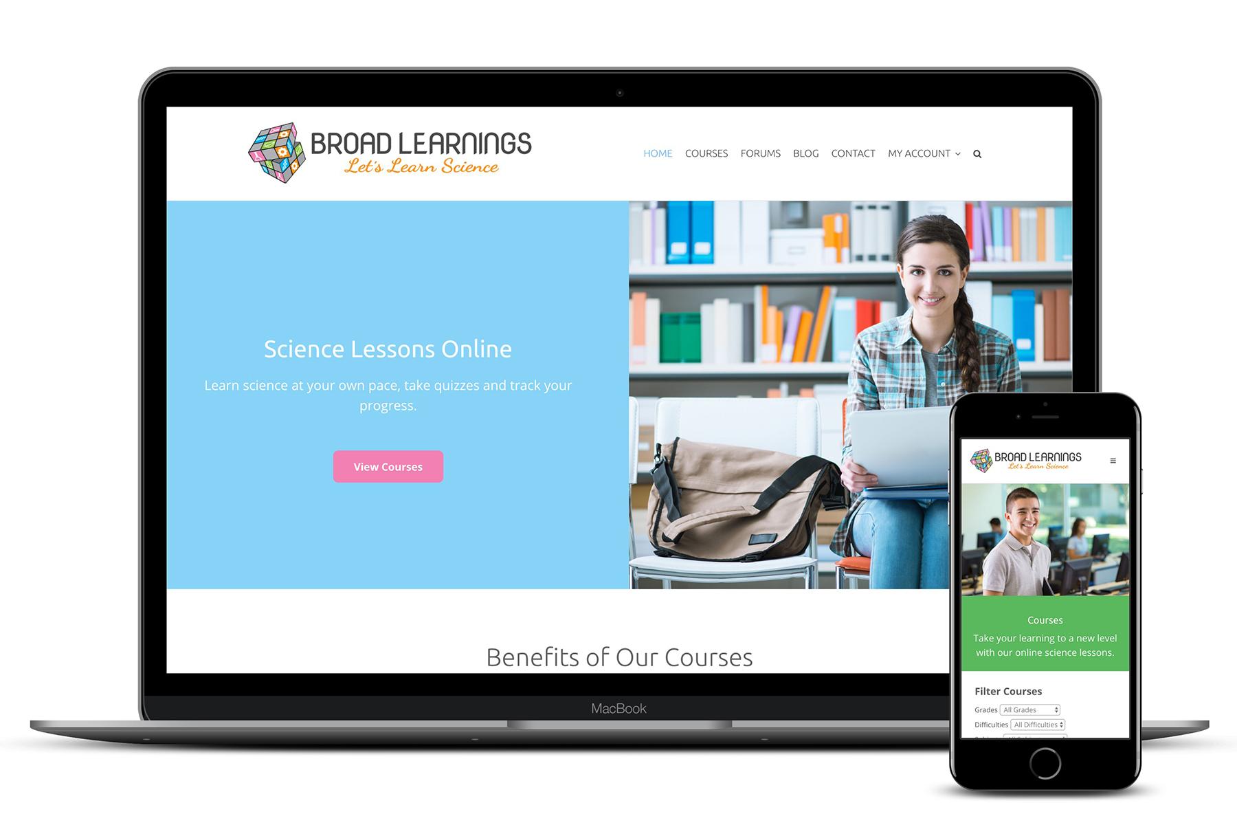 Broad Learnings Website Design