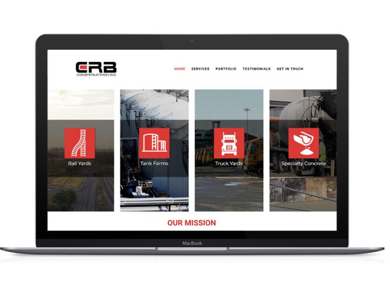 CRB Construction Web Design