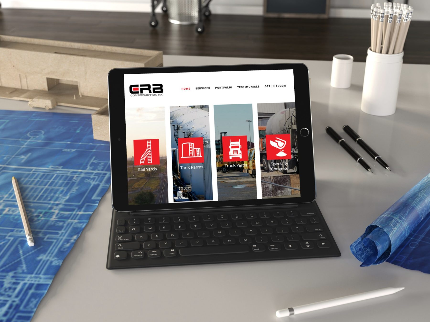 CRB Construction Website Design in Houston