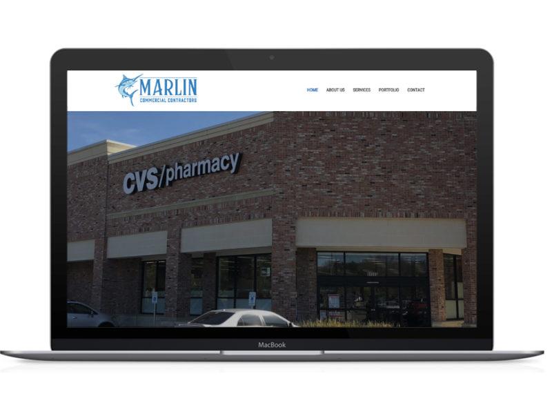 Marlin Commercial Contractors Website Design