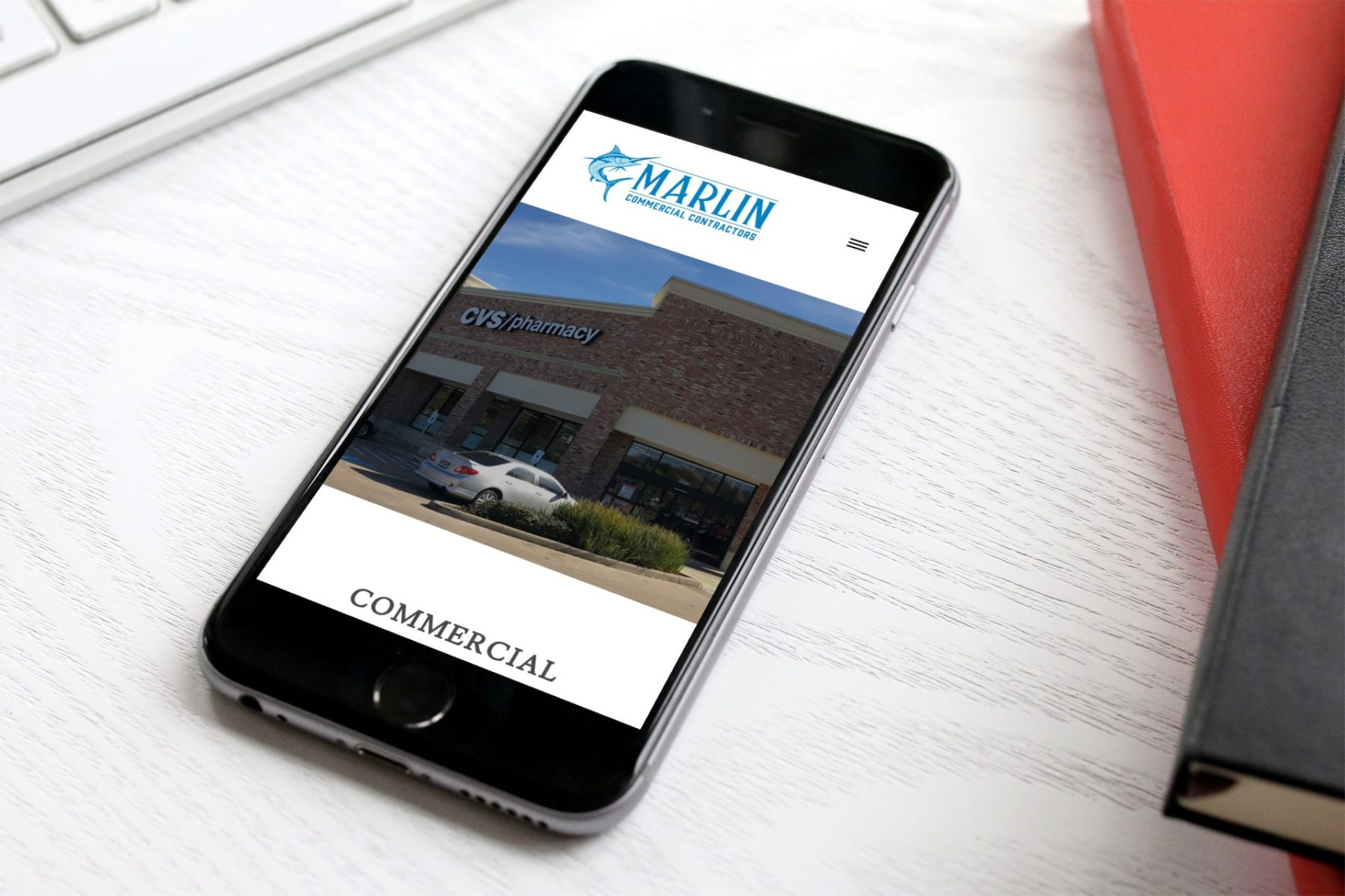 Marlin Commercial Contractors Mobile Website Design