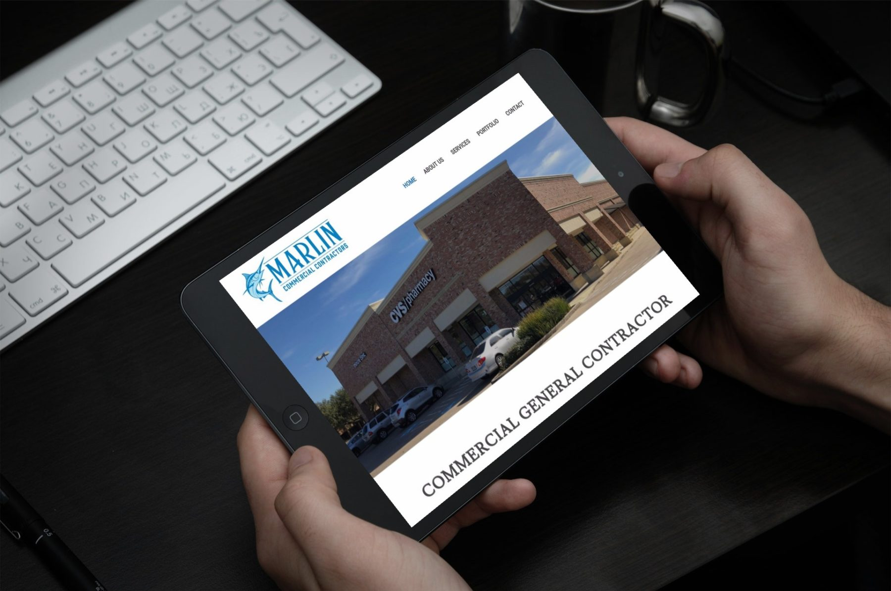 Marlin Commercial Contractors Web Design