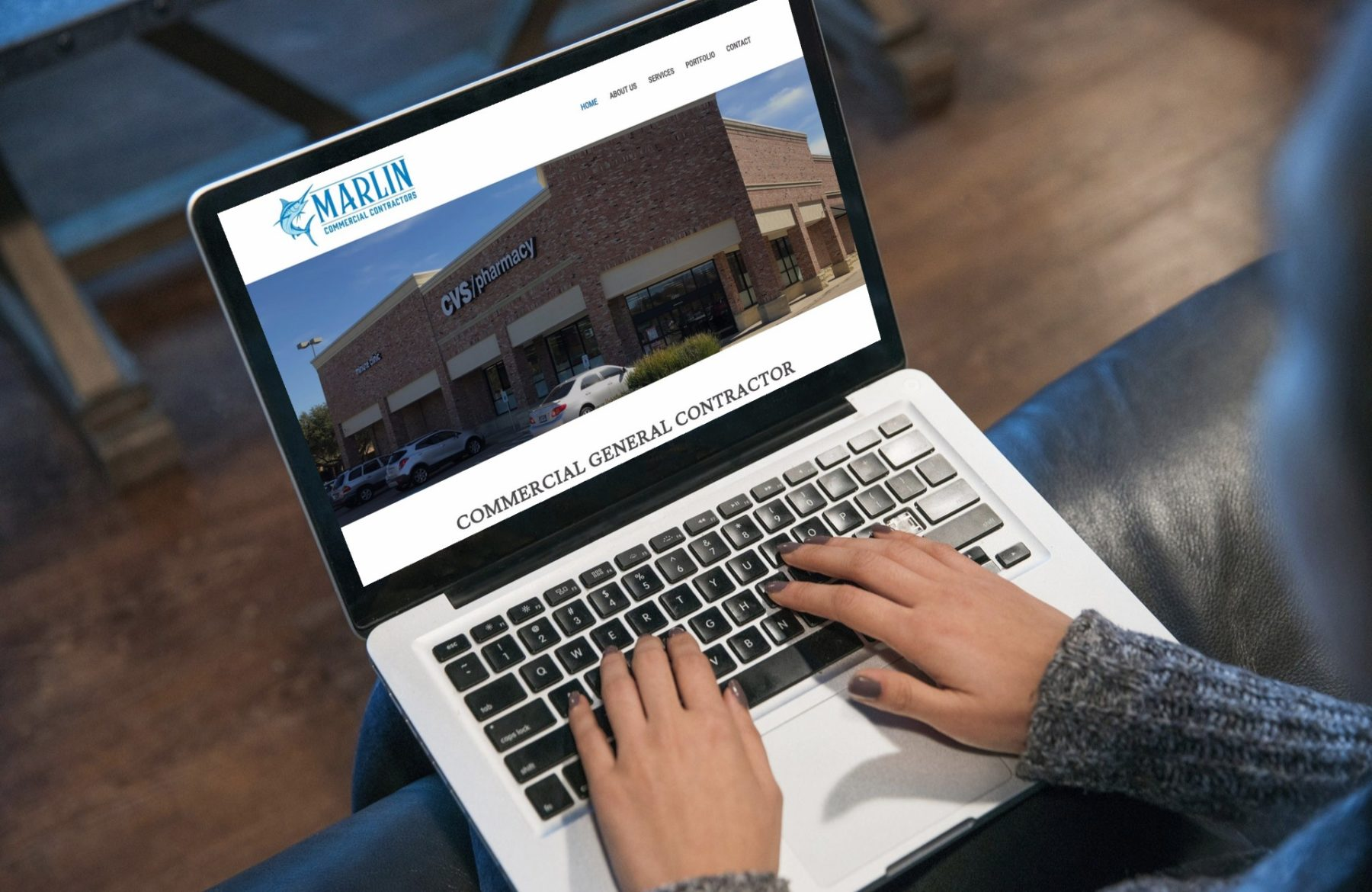 Marlin Commercial Contractors Website Design