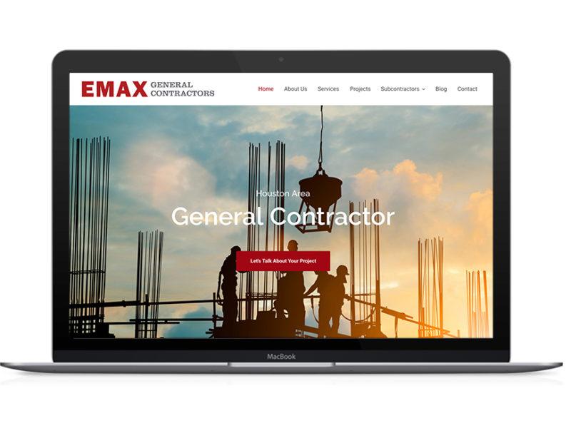EMAX General Contractors Web Design