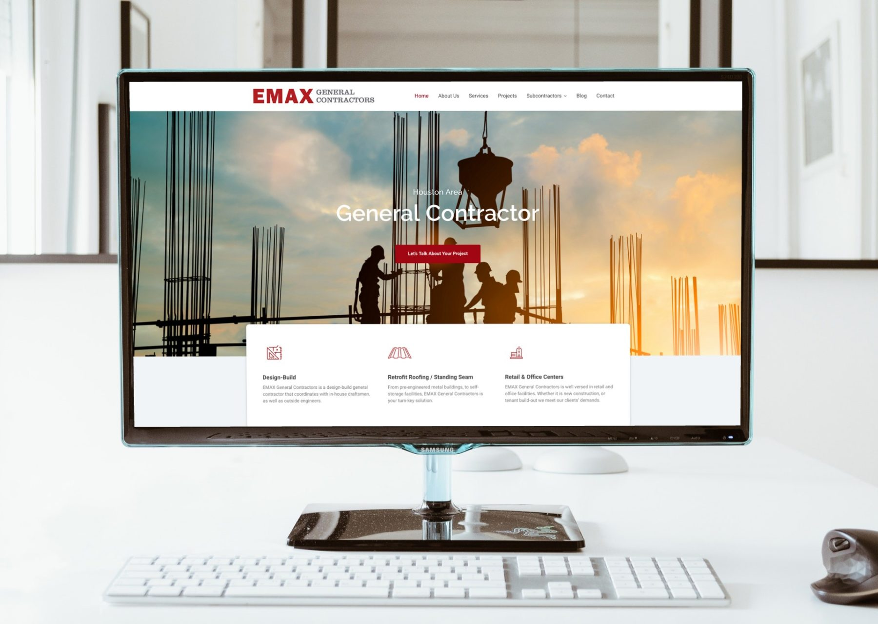 Construction Company Website Design in Houston