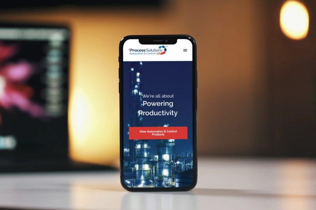 Process Solutions Website Design - Mobile