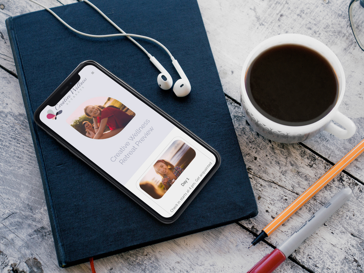 Creative Wellness Retreats Website Design - iPhone