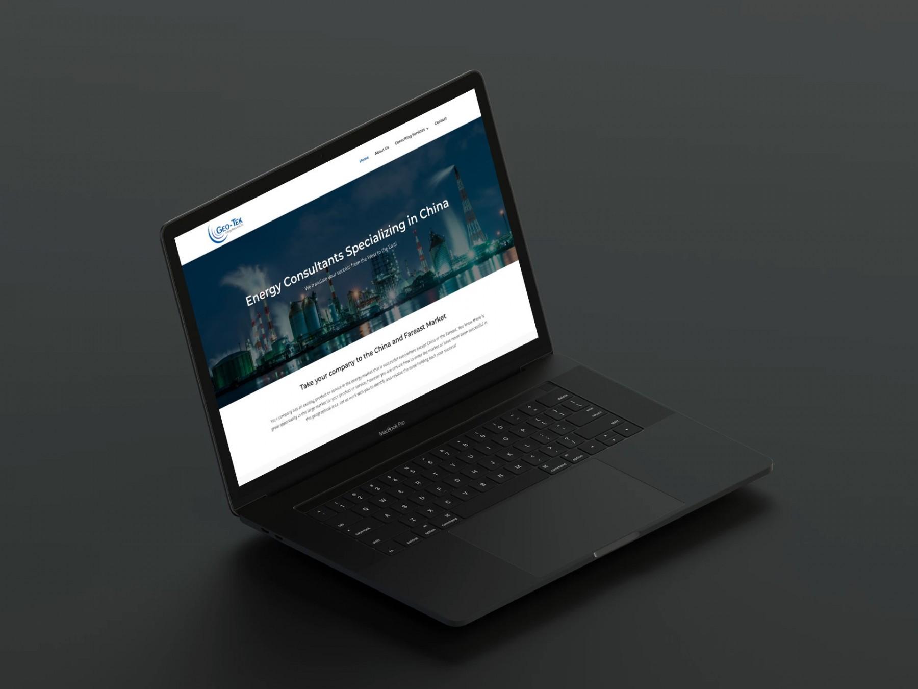 Geo-Tek Web Design Laptop