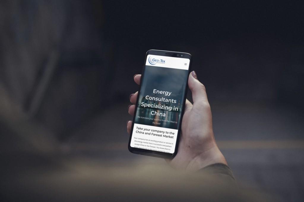 Geo-Tek Web Design Smartphone