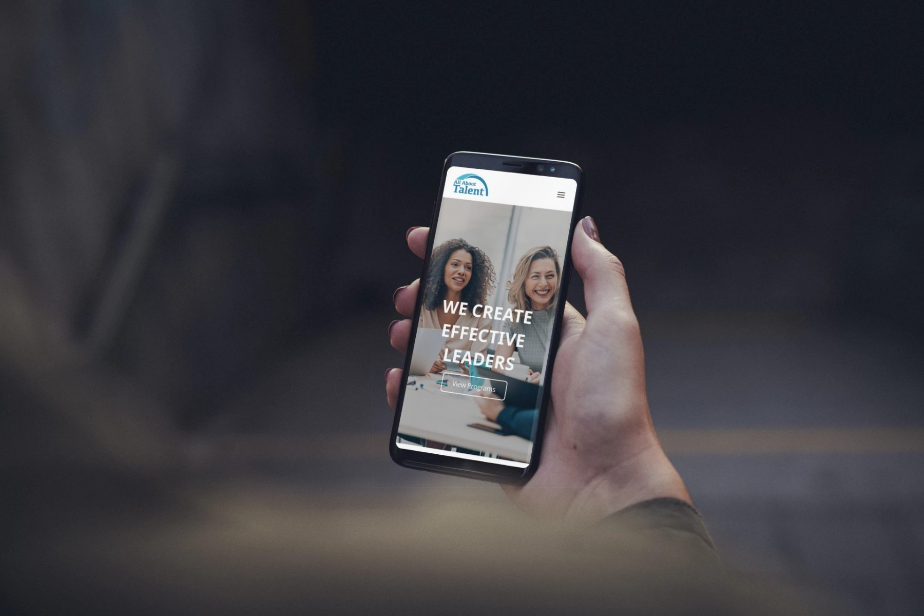 All About Talent Web Design Mobile