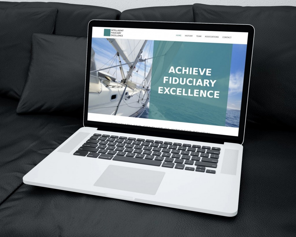 Intelligent Fiduciary Excellence website design laptop
