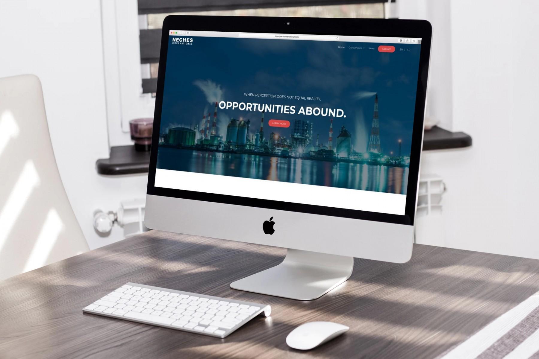 Neches International Website Design on Desktop