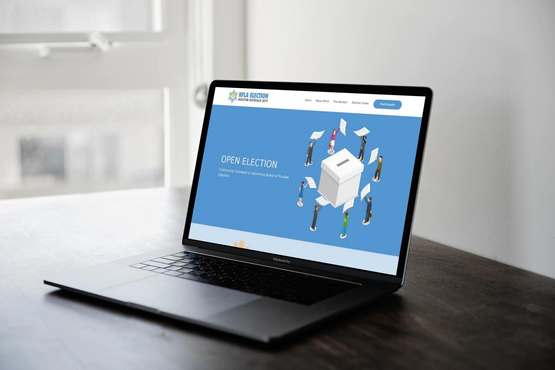 HFLA Houston Web Design - laptop