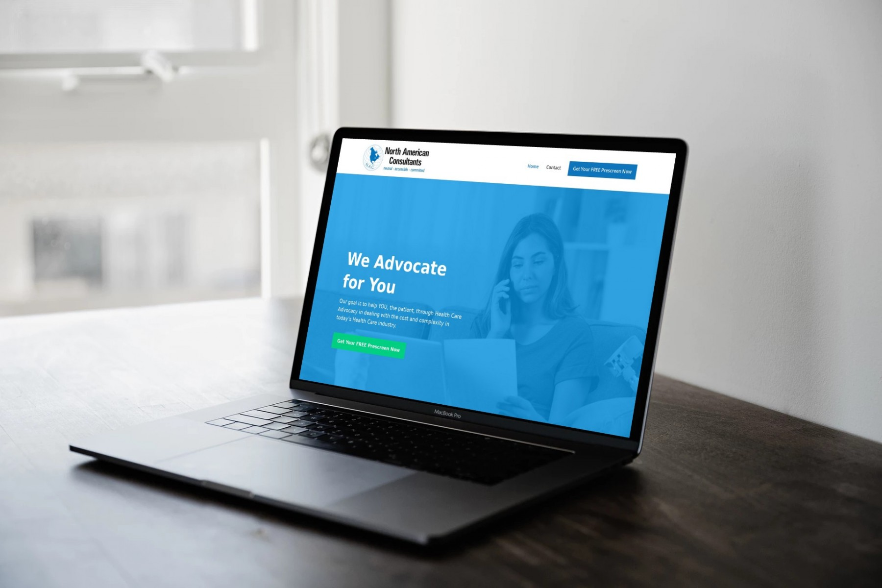 North American Consultants Website Design - Laptop