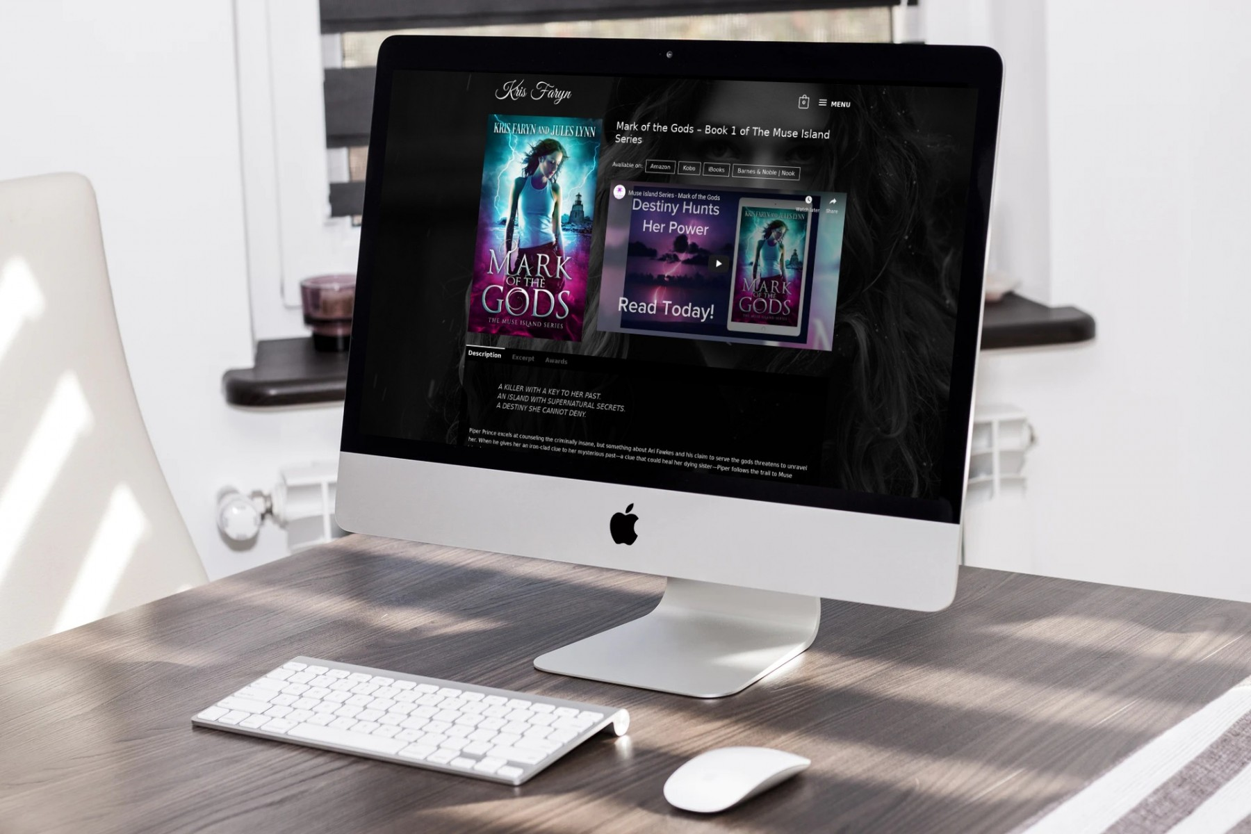 Houston Author Kris Faryn Website Design