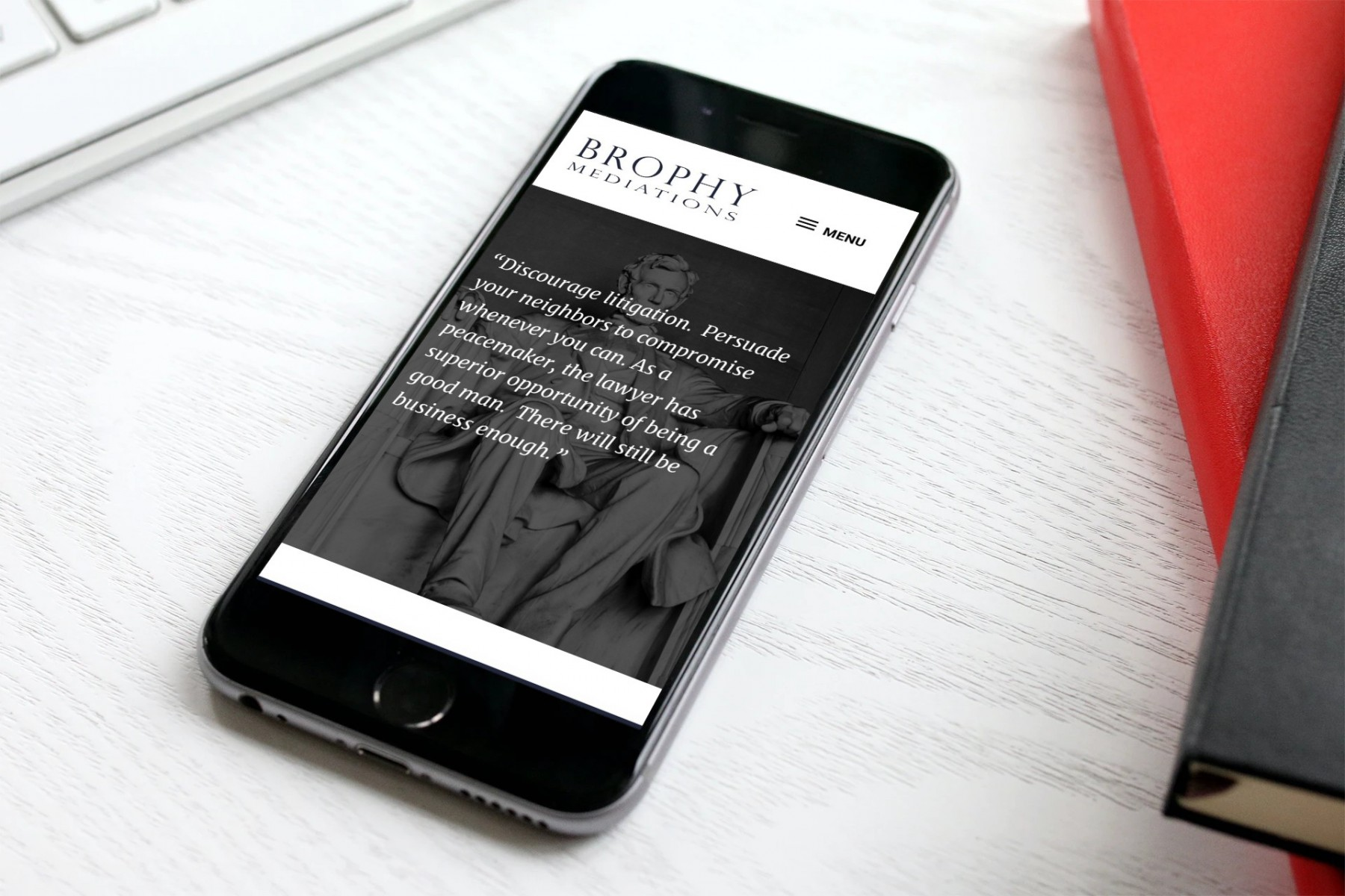Brophy Mediations Website Design - iPhone