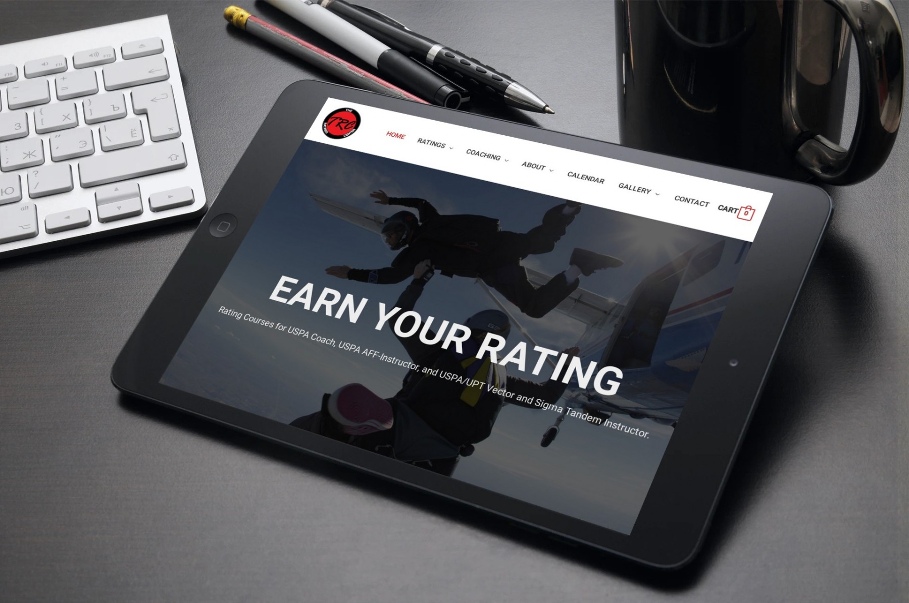 The Ratings Center Web Design iPad