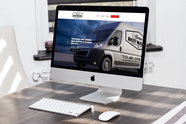 Houston Hot Water Specialists Website Design - iMac