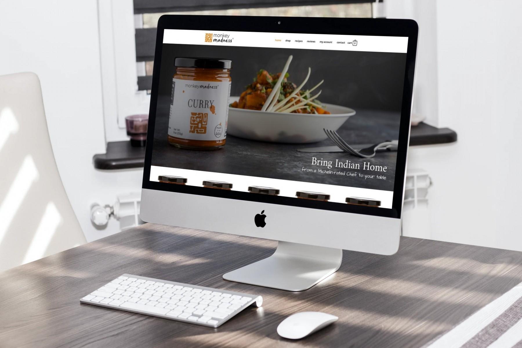 Monkey Madness Foods Website Design - iMac