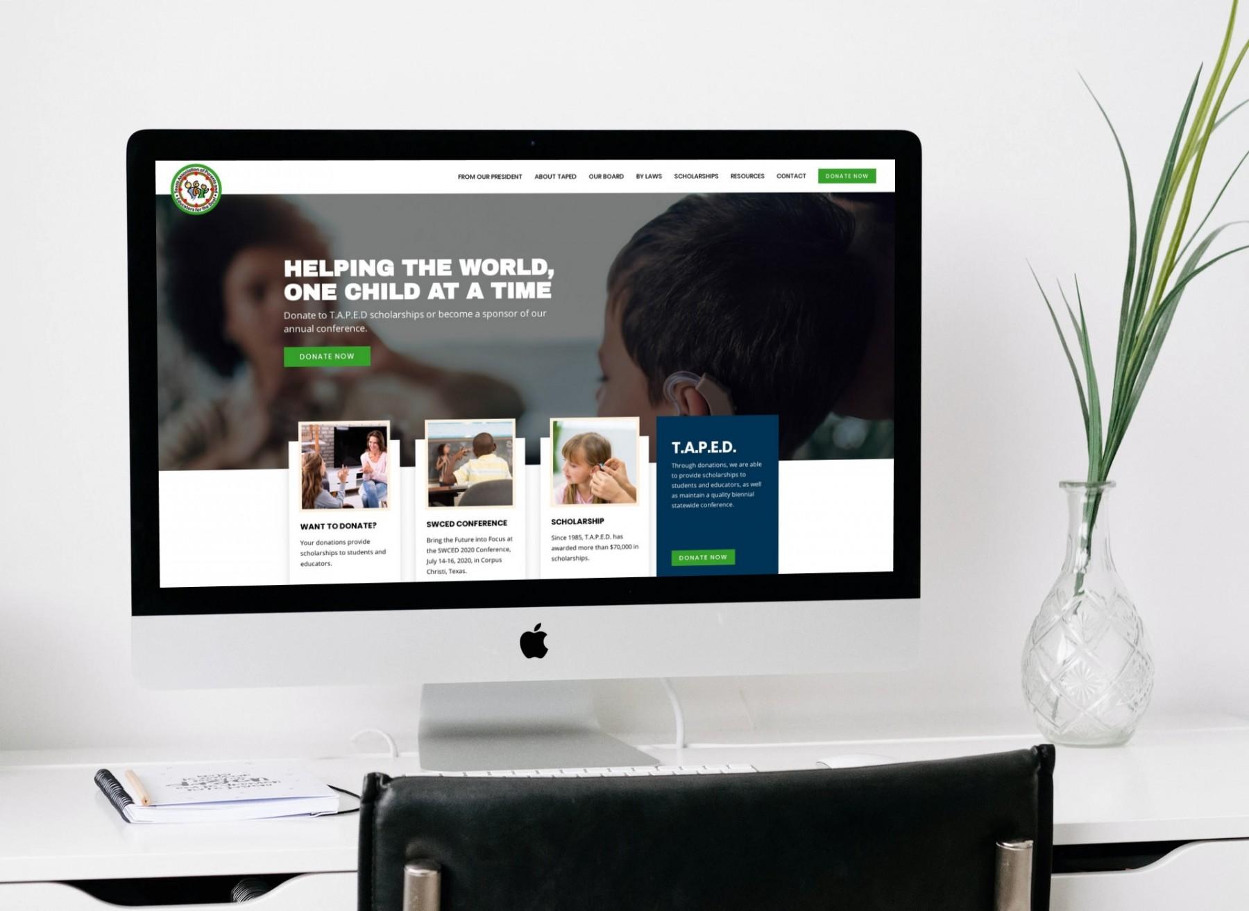 TAPED Web Design - Desktop