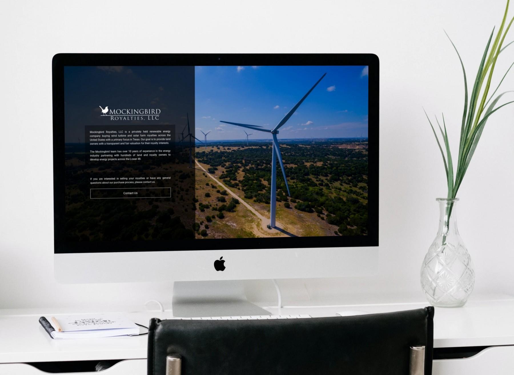 Mockingbird Royalties Website Design - Desktop
