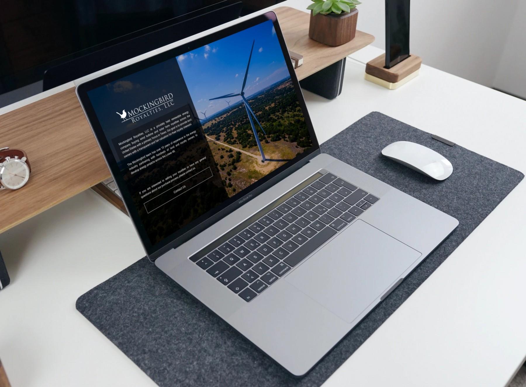 Mockingbird Royalties Website Design - Laptop