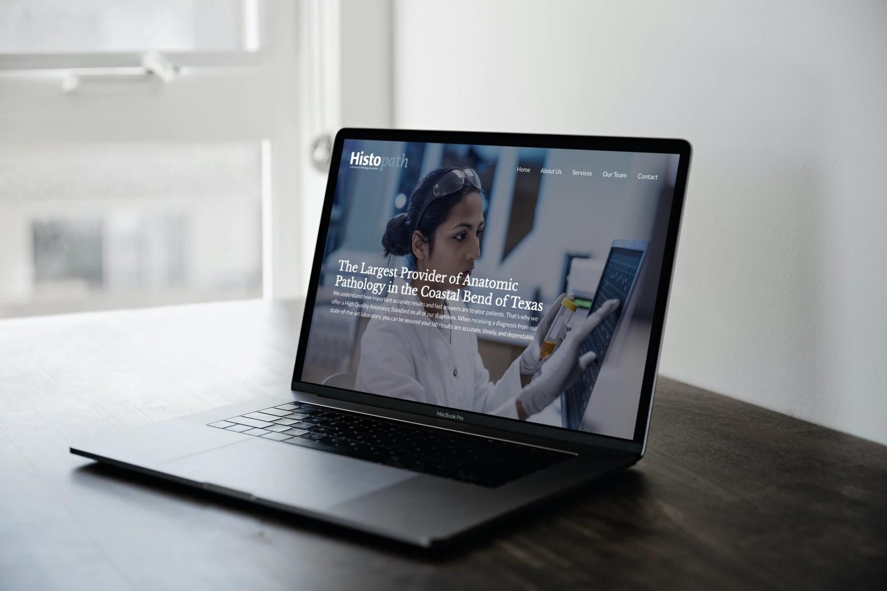 Histopath Website Design - Laptop
